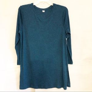 Old Navy Long Sleeve Ribbed Tunic-Teal-Sz XL-NWT